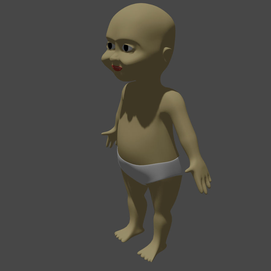 baby royalty-free 3d model - Preview no. 1