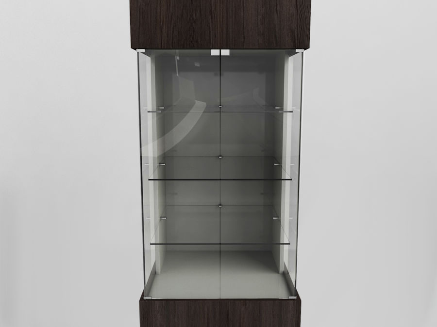 Vitrine und Vitrine royalty-free 3d model - Preview no. 2