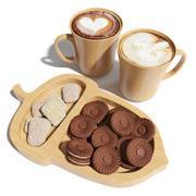 Eco-rätter med kakor och cappuccino 3d model