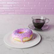 Ciambella e caffè 3d model