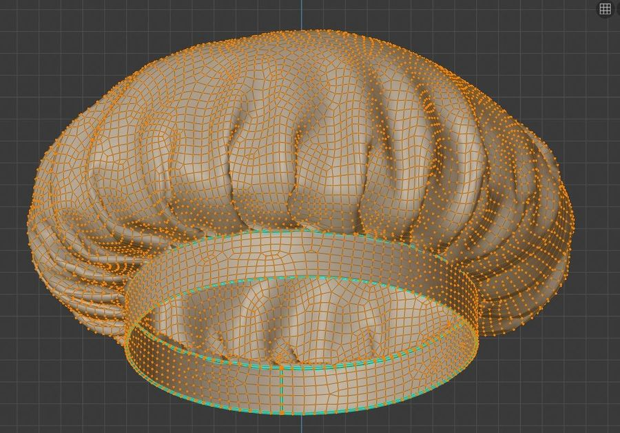 Chef hat royalty-free 3d model - Preview no. 11