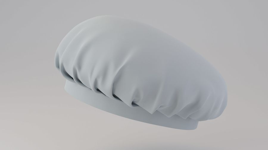 Chef hat royalty-free 3d model - Preview no. 7