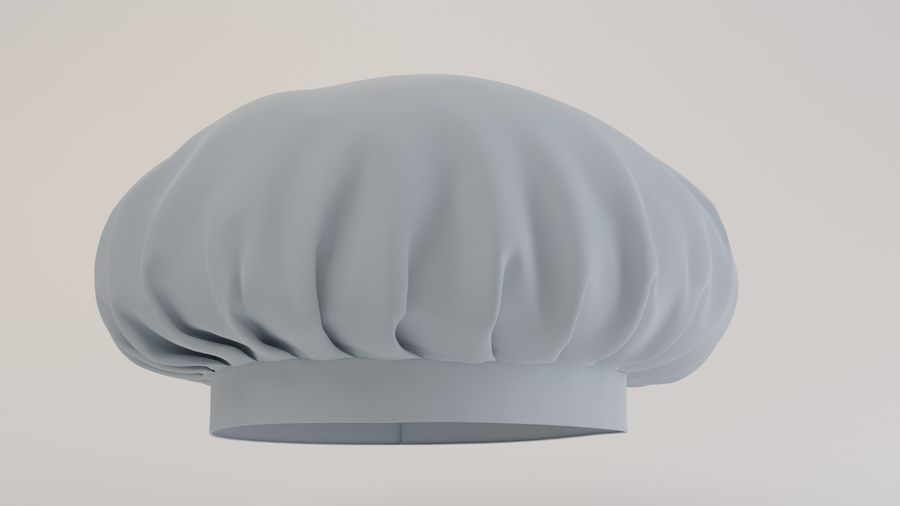 Chef hat royalty-free 3d model - Preview no. 3