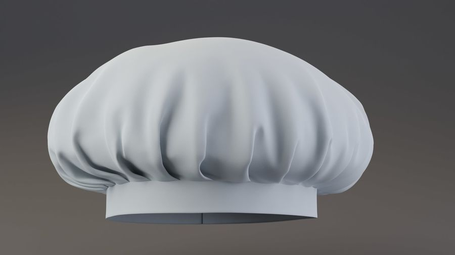 Chef hat royalty-free 3d model - Preview no. 1