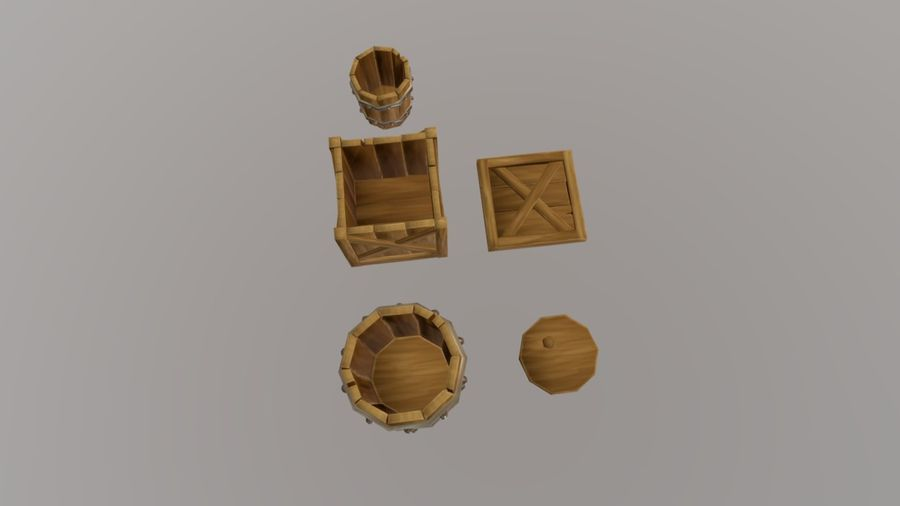 Oggetti di scena medievali royalty-free 3d model - Preview no. 4