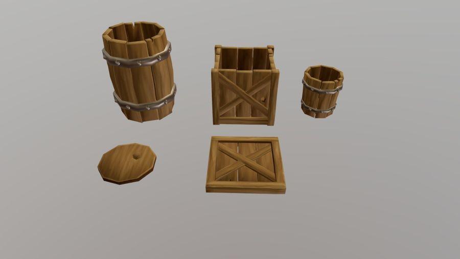 Oggetti di scena medievali royalty-free 3d model - Preview no. 1