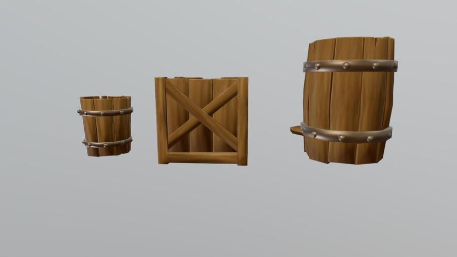 Oggetti di scena medievali royalty-free 3d model - Preview no. 3