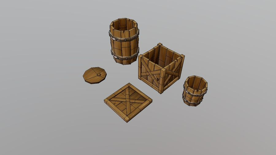 Oggetti di scena medievali royalty-free 3d model - Preview no. 5