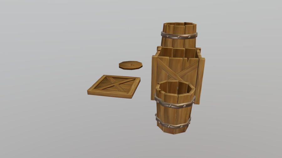 Oggetti di scena medievali royalty-free 3d model - Preview no. 2