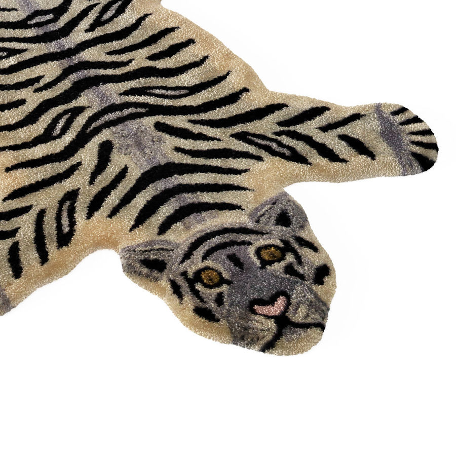 Bengal Tiger Rug royalty-free 3d model - Preview no. 4