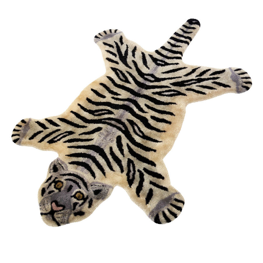 Bengal Tiger Rug royalty-free 3d model - Preview no. 3