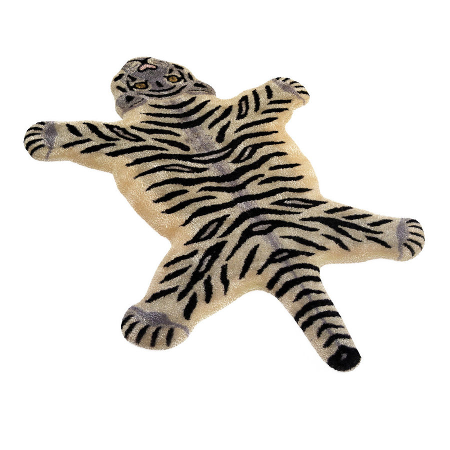 Bengal Tiger Rug royalty-free 3d model - Preview no. 2