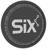 SIX black coin 3d model