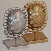 Панцирь черепахи на подставке 3d model