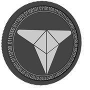 Token de comércio X black cooin 3d model