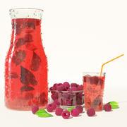 Cold raspberry lemonade 3d model