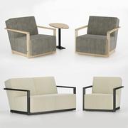 Fotel i sofa 3d model