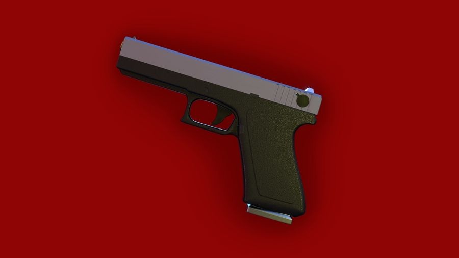 Оружие / Gun HandGun royalty-free 3d model - Preview no. 11