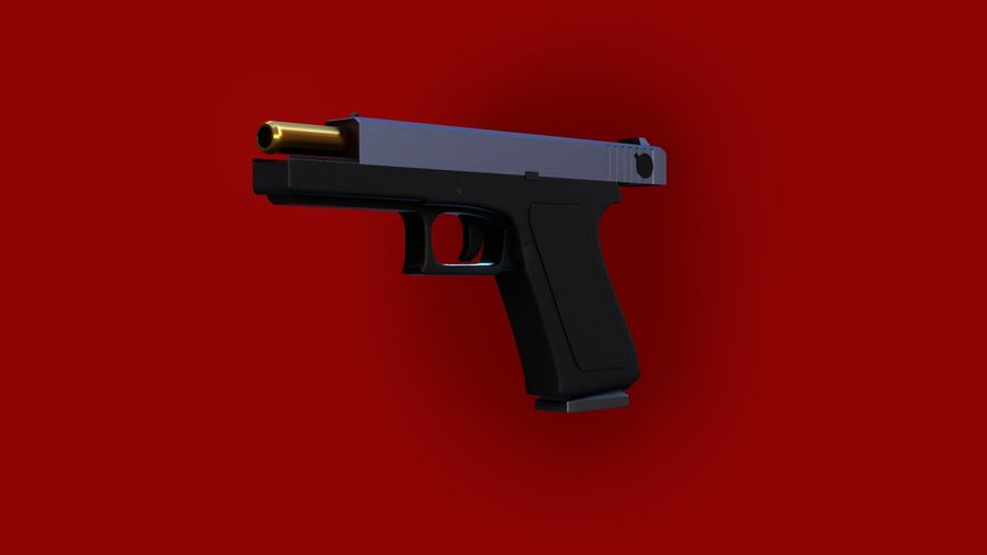 Оружие / Gun HandGun royalty-free 3d model - Preview no. 19