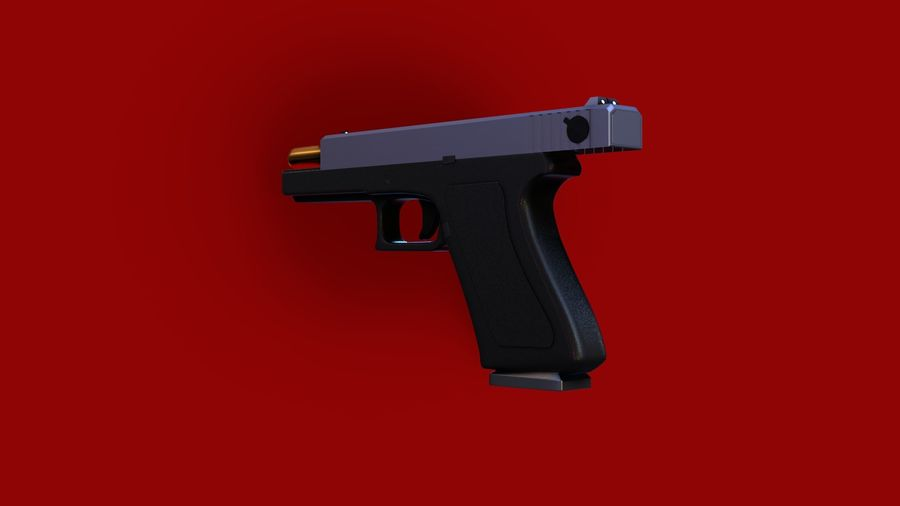 Weapon/Gun HandGun royalty-free 3d model - Preview no. 18