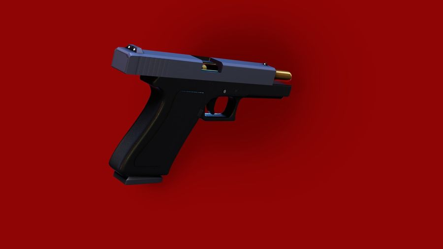 Оружие / Gun HandGun royalty-free 3d model - Preview no. 20
