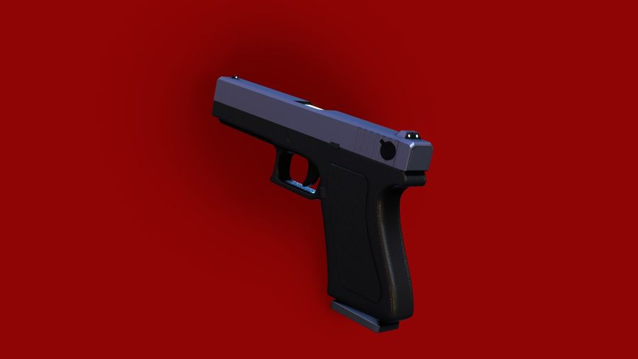 Оружие / Gun HandGun royalty-free 3d model - Preview no. 10