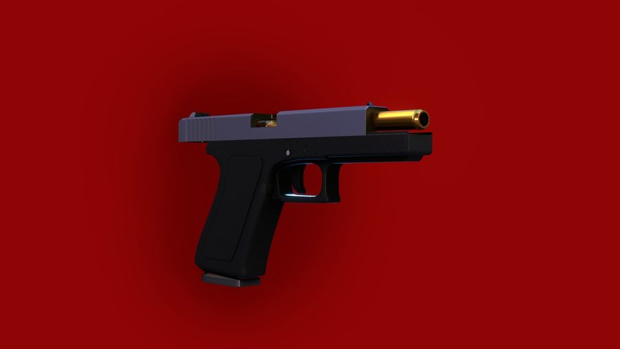 Оружие / Gun HandGun royalty-free 3d model - Preview no. 15