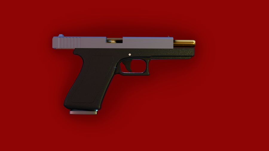 Оружие / Gun HandGun royalty-free 3d model - Preview no. 16