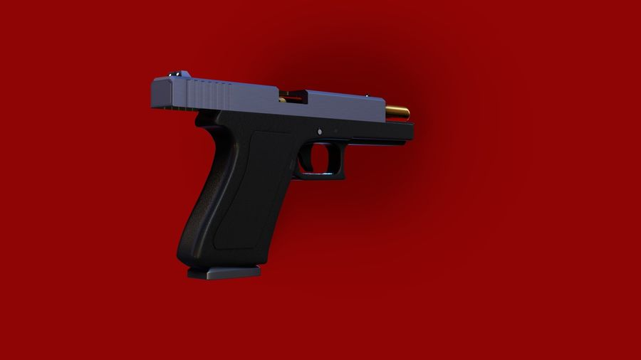 Оружие / Gun HandGun royalty-free 3d model - Preview no. 17