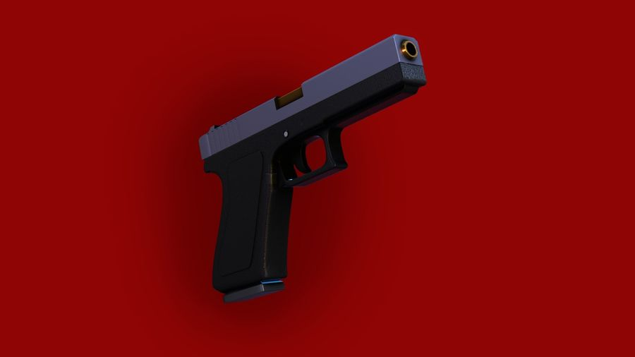 Оружие / Gun HandGun royalty-free 3d model - Preview no. 13