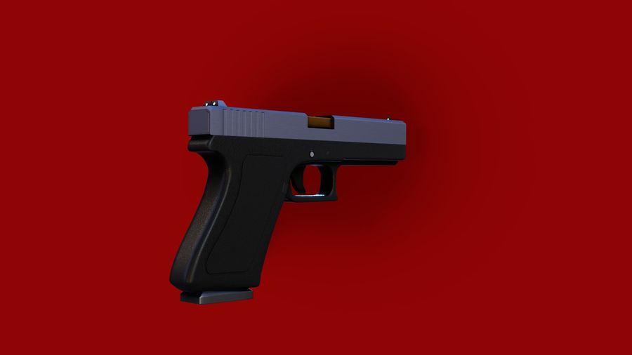 Оружие / Gun HandGun royalty-free 3d model - Preview no. 5