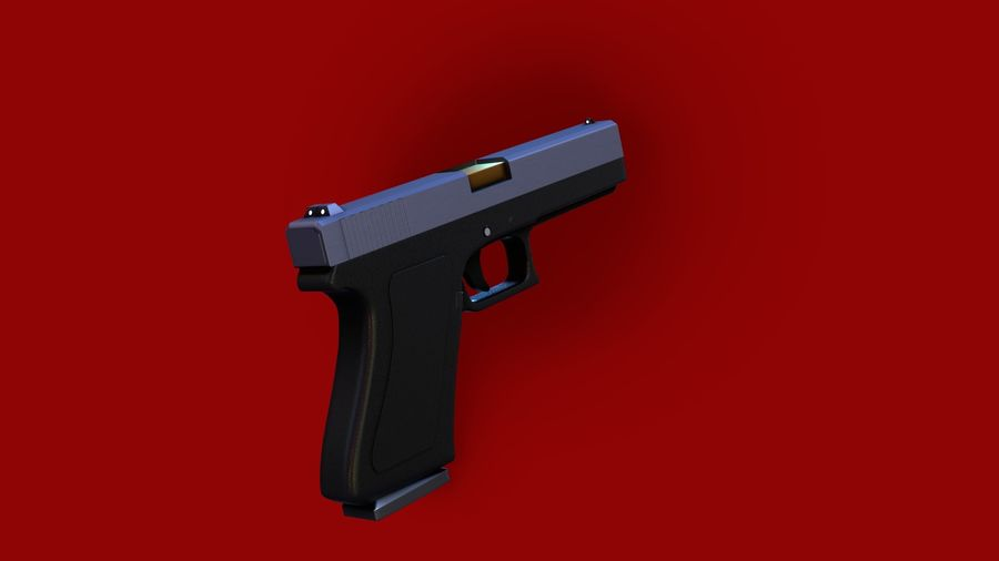 Оружие / Gun HandGun royalty-free 3d model - Preview no. 9