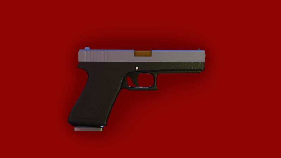 Weapon/Gun HandGun royalty-free 3d model - Preview no. 4