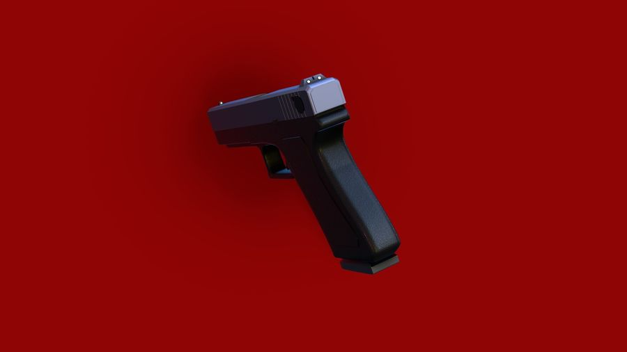 Weapon/Gun HandGun royalty-free 3d model - Preview no. 25