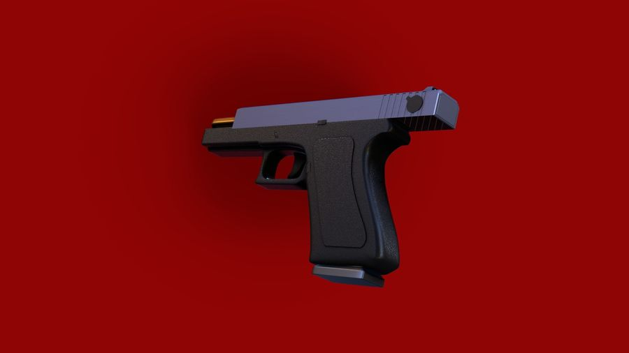 Оружие / Gun HandGun royalty-free 3d model - Preview no. 21
