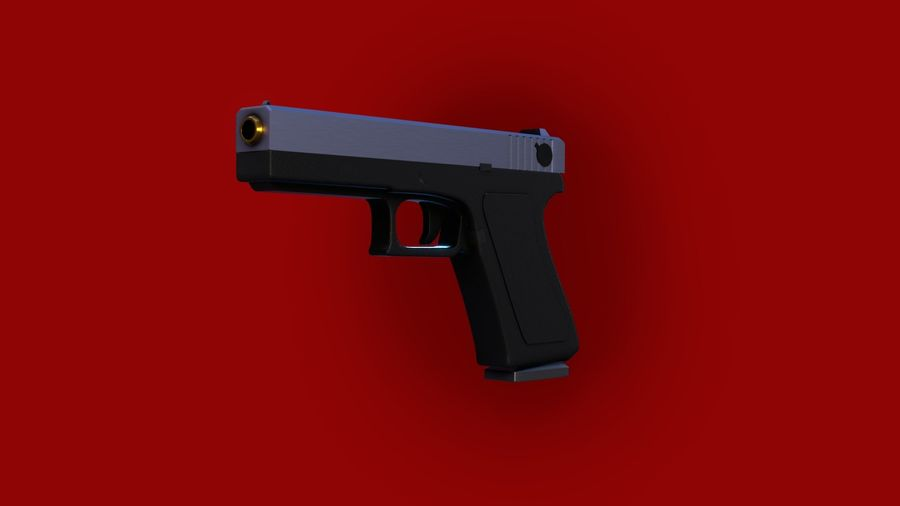 Оружие / Gun HandGun royalty-free 3d model - Preview no. 7