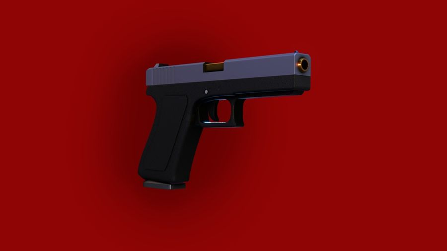 Оружие / Gun HandGun royalty-free 3d model - Preview no. 8