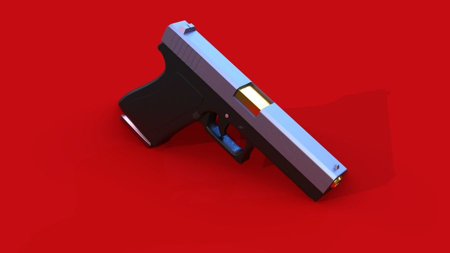 Оружие / Gun HandGun royalty-free 3d model - Preview no. 1