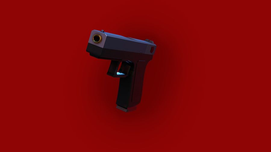 Weapon/Gun HandGun royalty-free 3d model - Preview no. 26