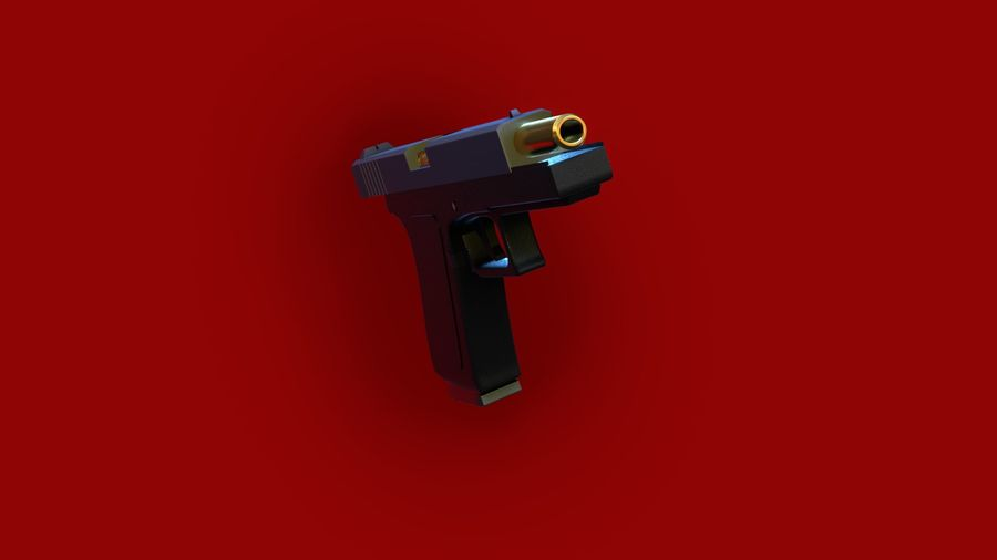 Оружие / Gun HandGun royalty-free 3d model - Preview no. 23