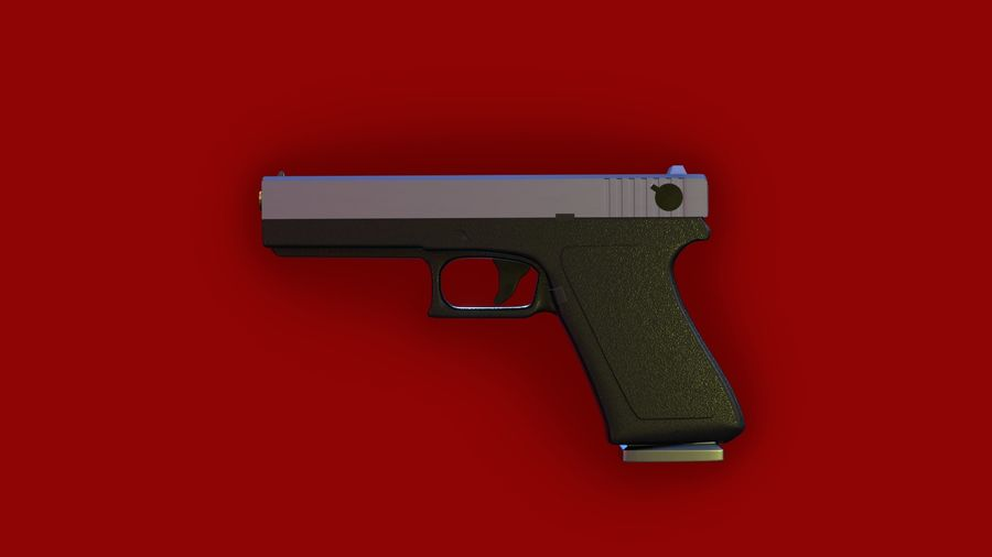 Оружие / Gun HandGun royalty-free 3d model - Preview no. 3