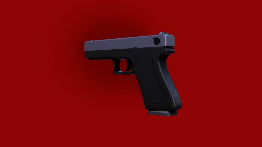 Оружие / Gun HandGun royalty-free 3d model - Preview no. 6