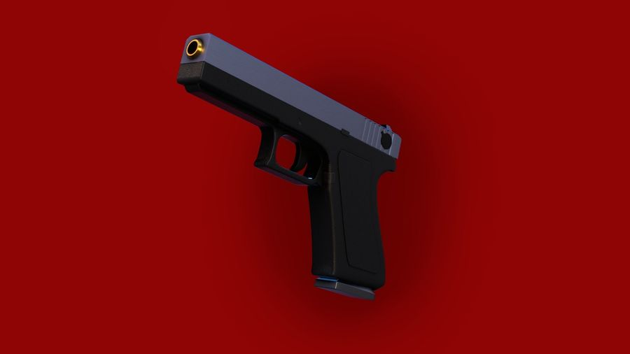Weapon/Gun HandGun royalty-free 3d model - Preview no. 12