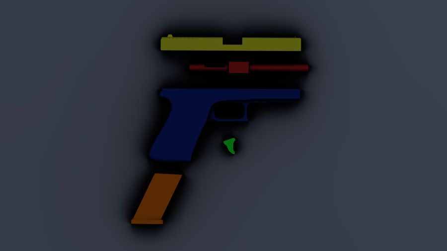 Оружие / Gun HandGun royalty-free 3d model - Preview no. 31