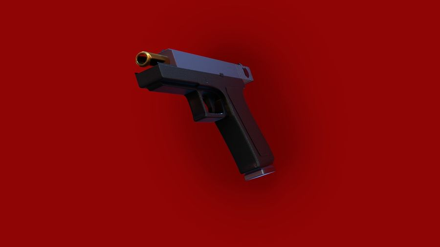 Оружие / Gun HandGun royalty-free 3d model - Preview no. 22