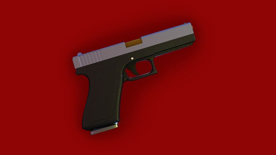 Оружие / Gun HandGun royalty-free 3d model - Preview no. 14
