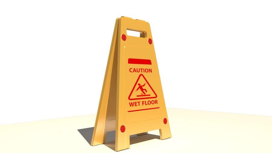 Cuidado piso molhado royalty-free 3d model - Preview no. 3
