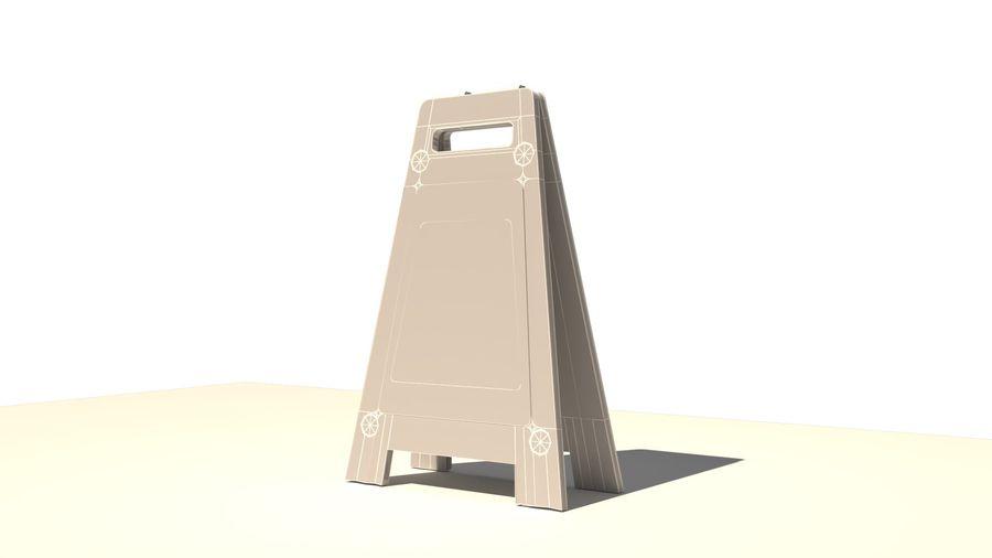 Cuidado piso molhado royalty-free 3d model - Preview no. 9