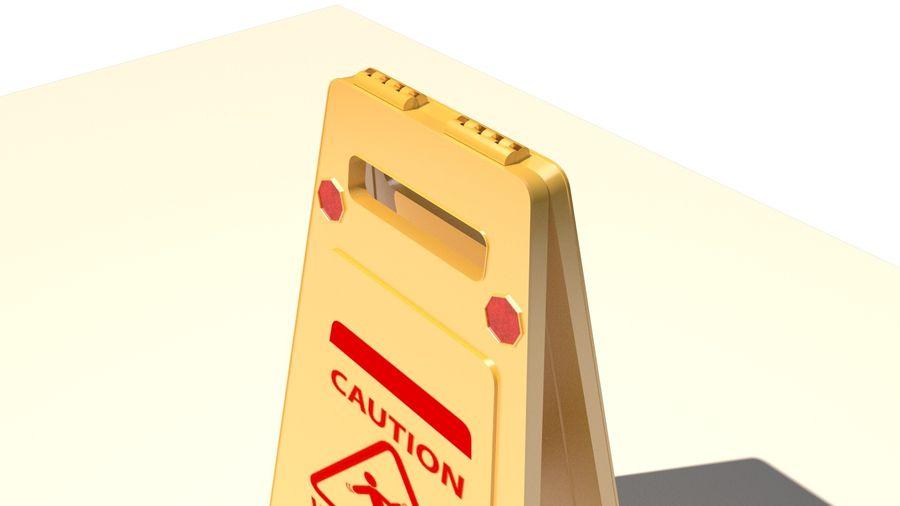 Cuidado piso molhado royalty-free 3d model - Preview no. 7