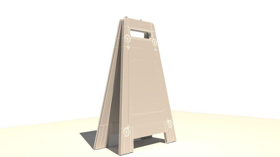 Cuidado piso molhado royalty-free 3d model - Preview no. 8